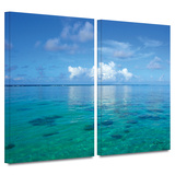 Lagoon and Reef 2 piece gallery-wrapped canvas Gallery Wrapped Canvas Set by George Zucconi