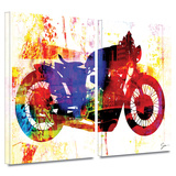 Moto III 2 piece gallery-wrapped canvas Poster by Greg Simanson