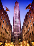 The Rockefeller Center with Christmas Decoration at Nightfall Photographic Print by Philippe Hugonnard