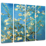 Almond Blossom 4 piece gallery-wrapped canvas Posters by Vincent van Gogh