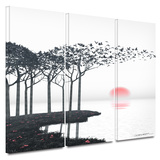 Aki 3 piece gallery-wrapped canvas Posters by Cynthia Decker