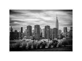 Landscape with a Top of Empire State Building Photographic Print by Philippe Hugonnard