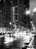 Urban Street View on Avenue of the Americas by Night Photographic Print by Philippe Hugonnard