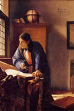 Johannes Vermeer The Geographer Poster Posters