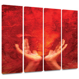 Chakra Fire 4 piece gallery-wrapped canvas Prints by Elena Ray