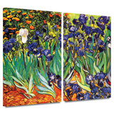Irises in the Garden 2 piece gallery-wrapped canvas Prints by Vincent van Gogh
