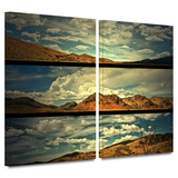Saving Skis 2 piece gallery-wrapped canvas Prints by Mark Ross