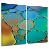 Connected II 2 piece gallery-wrapped canvas Art by Cora Niele
