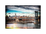 Instants of NY Series - Midtown NYC with Manhattan Bridge and Empire State Building Photographic Print by Philippe Hugonnard