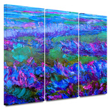 Charlits Floral 3 piece gallery-wrapped canvas Prints by Susi Franco