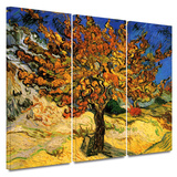 Mulberry Tree 3 piece gallery-wrapped canvas Gallery Wrapped Canvas Set by Vincent van Gogh