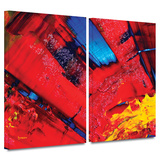 Passionate Explosion 2 piece gallery-wrapped canvas Print by Byron May