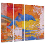 Dolphin 4 piece gallery-wrapped canvas Art by Greg Simanson