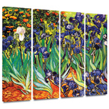 Irises in the Garden 4 piece gallery-wrapped canvas Gallery Wrapped Canvas Set by Vincent van Gogh