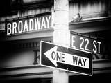 Broadway Street Sign Manhattan Photographic Print by Philippe Hugonnard
