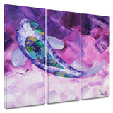 Purple Koi 3 piece gallery-wrapped canvas Posters by Susi Franco