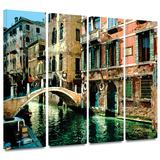 Venice Canal 4 piece gallery-wrapped canvas Gallery Wrapped Canvas Set by George Zucconi