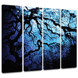 Japanese Ice Tree 4 piece gallery-wrapped canvas Print by John Black