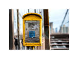 Police Emergency Call Box on the Walkway of the Brooklyn Bridge in New York City Photographic Print by Philippe Hugonnard