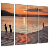 Another Kekua Sunrise 4 piece gallery-wrapped canvas Print by Steve Ainsworth