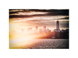 Instants of NY Series - Landscape with One Trade Center (1WTC) Photographic Print by Philippe Hugonnard