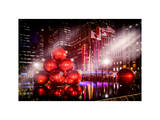 Instants of NY Series - Giant Christmas Ornaments on Sixth Avenue across from Radio City Music Hall Photographic Print by Philippe Hugonnard