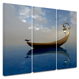 Narcissism 3 piece gallery-wrapped canvas Print by Cynthia Decker