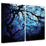 Japanese Ice Tree 2 piece gallery-wrapped canvas Prints by John Black
