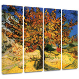 Mulberry Tree 4 piece gallery-wrapped canvas Gallery Wrapped Canvas Set by Vincent van Gogh