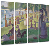 La Grande Jatte 4 piece gallery-wrapped canvas Gallery Wrapped Canvas Set by Mark Ross