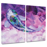 Purple Koi 2 piece gallery-wrapped canvas Posters by Susi Franco