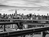 View of Brooklyn Bridge with the Empire State Buildings Reproduction photographique par Philippe Hugonnard