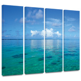 Lagoon and Reef 4 piece gallery-wrapped canvas Gallery Wrapped Canvas Set by George Zucconi