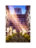 Instants of NY Series - Rockefeller Center and 5th Ave Views with Christmas Decoration Photographic Print by Philippe Hugonnard