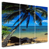 Beautiful Smini Beach 3 piece gallery-wrapped canvas Prints by Kathy Yates