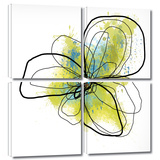 Citron Petals II 4 piece gallery-wrapped canvas Gallery Wrapped Canvas Set by Jan Weiss