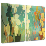 Shadow Florals 2 piece gallery-wrapped canvas Gallery Wrapped Canvas Set by Jan Weiss