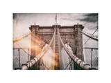 Instants of NY Series - Brooklyn Bridge View Photographic Print by Philippe Hugonnard
