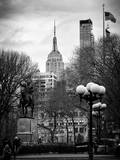 Union Square Park and the Empire State Building View Photographic Print by Philippe Hugonnard