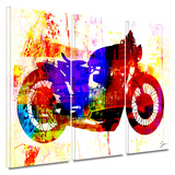 Moto III 3 piece gallery-wrapped canvas Print by Greg Simanson