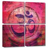 Om Mandala 4 piece gallery-wrapped canvas Canvas Art Set by Elena Ray