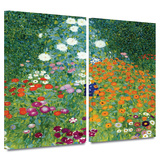 Farm Garden 2 piece gallery-wrapped canvas Posters by Gustav Klimt