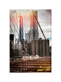Instants of NY Series - View of Brooklyn Bridge with the One World Trade Center Papier Photo par Philippe Hugonnard
