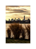 Wild to Manhattan with the One World Trade Center at Sunset Photographic Print by Philippe Hugonnard