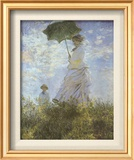 Woman with Parasol and Child Póster por Claude Monet