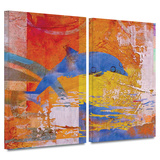 Dolphin 2 piece gallery-wrapped canvas Posters by Greg Simanson