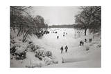 People Walking in the Snow, Prospect Park Photographic Print by Henri Silberman