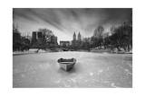 Boat in Ice, Central Park Photographic Print by Henri Silberman