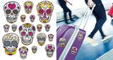 Funky Skulls Travel Stickers Stickers