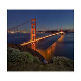 Golden Gate Bridge Evening Photographic Print by Henri Silberman